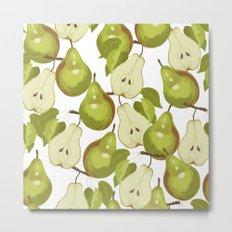 Pears Pattern Metal Print