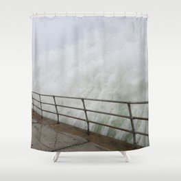 The Violence is Here Shower Curtain
