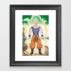 The Super Saiyan Framed Art Print