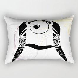 Smoke Letter Rectangular Pillow