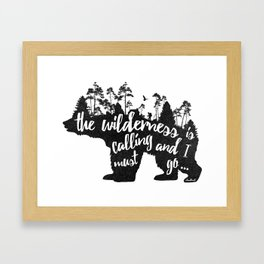 Wild Call - Bear Framed Art Print
