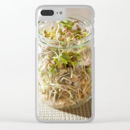 Many cereal sprouts growing Clear iPhone Case