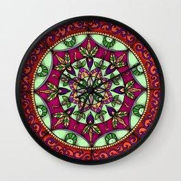 Garden Leaves Mandala Wall Clock