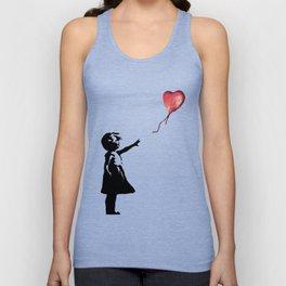 Banksy cosmic balloon Unisex Tank Top