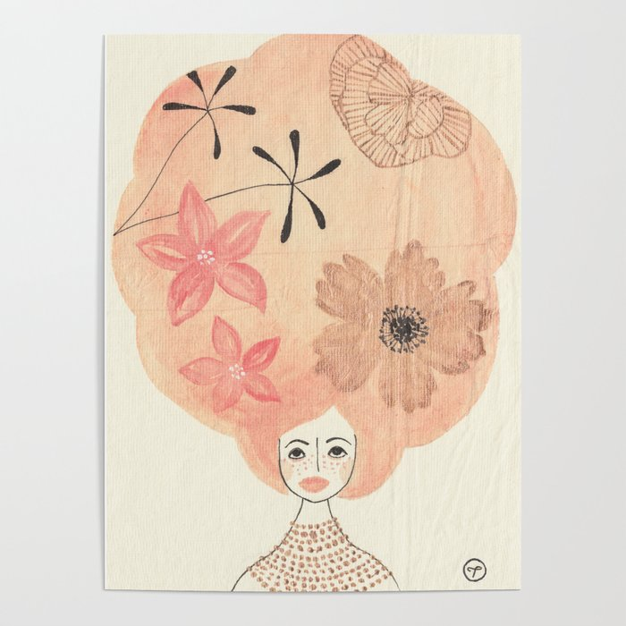 Chinoiserie Hair Poster