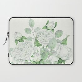 Bouquet Of Pastel Green Roses Laptop Sleeve
