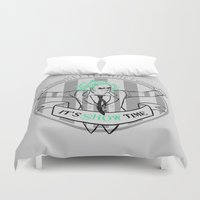 tim burton Duvet Covers featuring Beetle Juice [Betelgeuse, Michael Keaton, Tim Burton] by Vyles