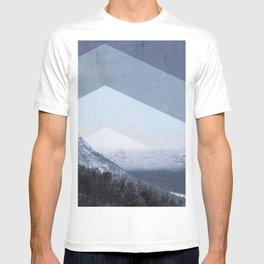 Winter Geometric Landscape T-shirt