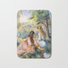 Auguste Renoir In the Meadow Bath Mat