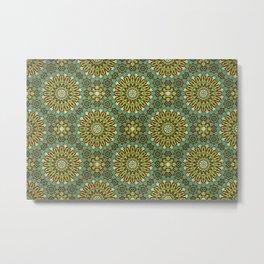Alhambra Double Star Pattern Metal Print