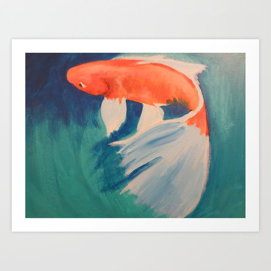 Acrylic Koi FIsh Art Print