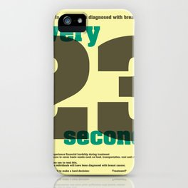 Every 23 seconds iPhone Case