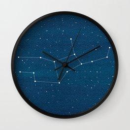 Virgo zodiac constellation Wall Clock