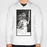 tarot Hoodies featuring Justice Tarot by Corinne Elyse