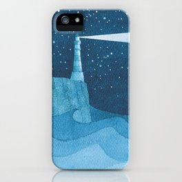 Lighthouse illustration iPhone Case