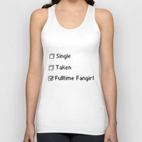 fangirl Tank Tops featuring fulltime fangirl by Sara Eshak