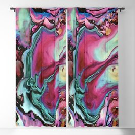 Colorful abstract marbling Blackout Curtain
