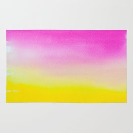 Abstract painting in modern fresh colors Rug