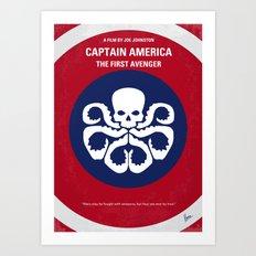 No329 My AMERICA CAPTAIN - 1 minimal movie poster Art Print