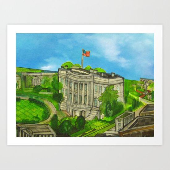 The White House - DC 2011 Art Print