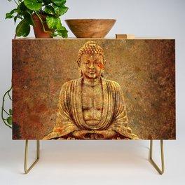 Sand Stone Sitting Buddha Credenza