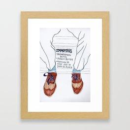 Businessmen Butts Framed Art Print