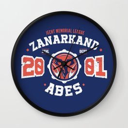 Zanarkand Abes Blitzball Athletic Shirt Distressed Wall Clock