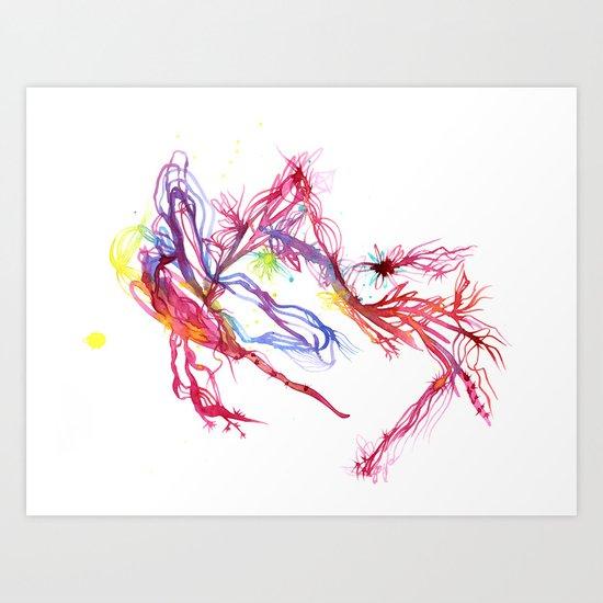 Galactic Blush Art Print