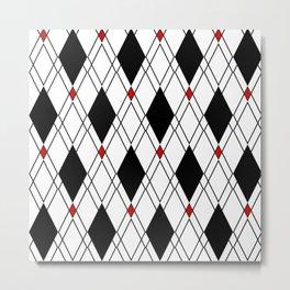 Sassy Diamond Pattern Metal Print