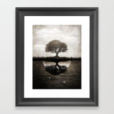 The lone Night reflex Framed Art Print