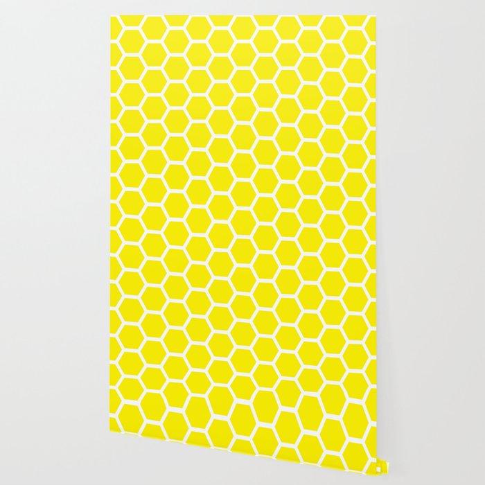 Wallpaper beehive honeycomb black hexagon yellow #000000 # ... |Yellow Honeycomb Wallpaper