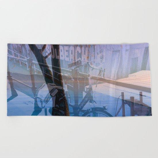 Biking in Nature Beach Towel