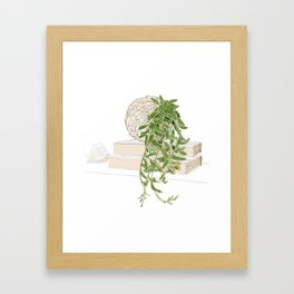 Kokedama Japanese Bonsai Home Decor  Framed Art Print