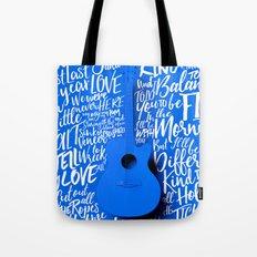 Lyrics & Type - Bon Iver - Skinny Love Tote Bag