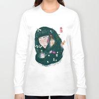 perfume Long Sleeve T-shirts featuring Hair Perfume by Luna Kirsche