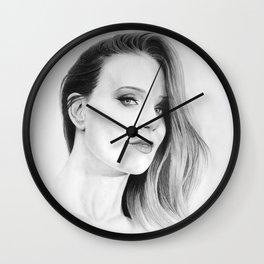 Simone Simons Pencil Portrait. Wall Clock