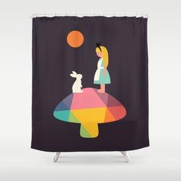 A Wonderful Trip Has Begun Shower Curtain