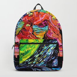 Rick Morty Starry Night Backpack
