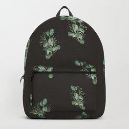 Eucalyptus Sprig on Black Backpack
