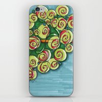 plant iPhone & iPod Skins featuring plant by Onde di Tela by Antonella Franco