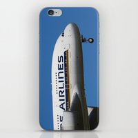 singapore iPhone & iPod Skins featuring Singapore Airlines Airbus A380 by David Pyatt