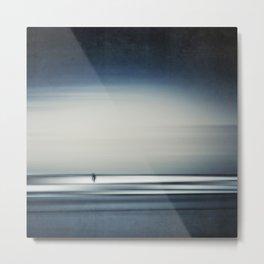 sea + surfer abstract Metal Print