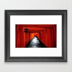 Fushimi Inari Path, Kyoto Framed Art Print