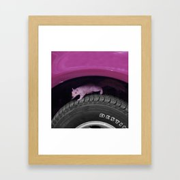 Up & down the wheel I go Framed Art Print