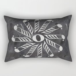 Music mandala 3 on chalkboard Rectangular Pillow