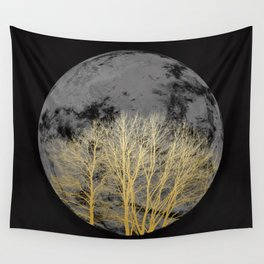 Golden moon Wall Tapestry