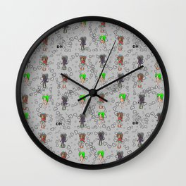 Colored Bratz Wall Clock