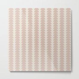 Maude Pattern - Neutral Rose Metal Print