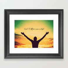 On High Framed Art Print