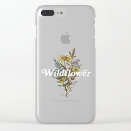 Wildflower Sprigs Clear iPhone Case